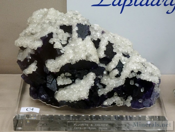 Fluorite and Calcite from Cave-in-Rock, IL