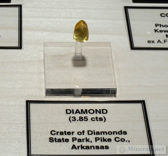 Yellow Diamond 3.85 ct. from Crater of Diamonds Park, Murfreesboro, AR