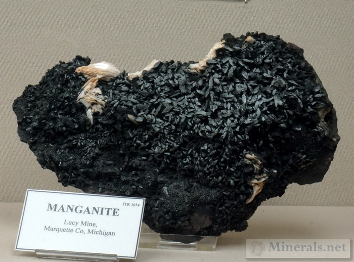 Manganite from the Lucy Mine, Marquette Co., MI A.E. Seaman Mineral Museum