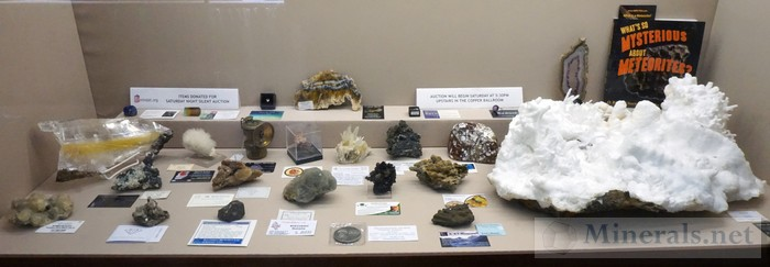 The Full Case of the Minerals to be Offered at the Show Auction