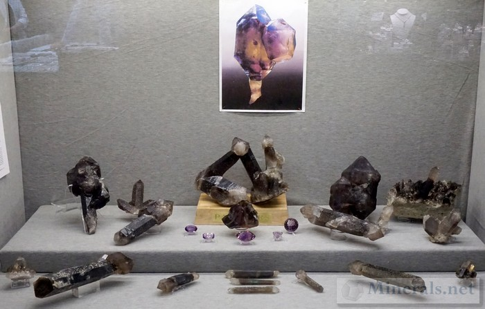 Smoky Quartz and Amethyst from Hallelujah Junction, Nevada