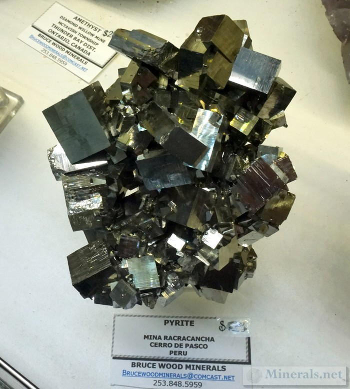 New Find of Cubic Pyrite Cluster from the Racracancha Mine, Cerro de Pasco, Peru<br><em>Bruce Wood Minerals