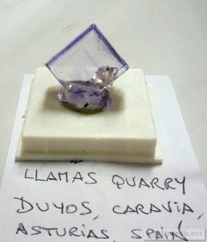 New Fluorite Cube Finds from the Llamas Quarry, Duyos, Asturias, Spain Mineral Classics