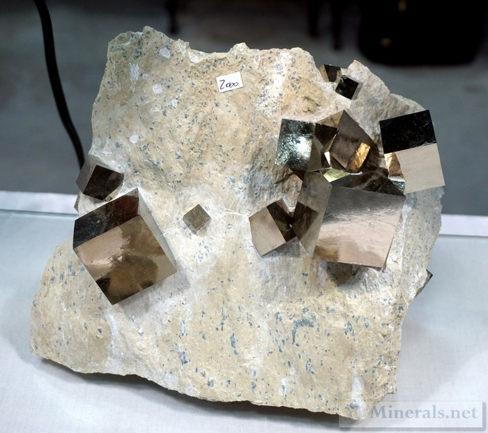 Pyrite Cubes in Matrix from Navajun, Spain Pyritas de Navajun