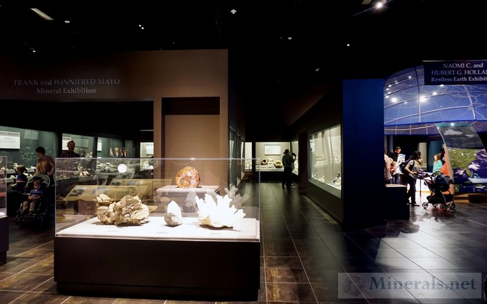 Perspective Photo of the Mineral Exhibitions