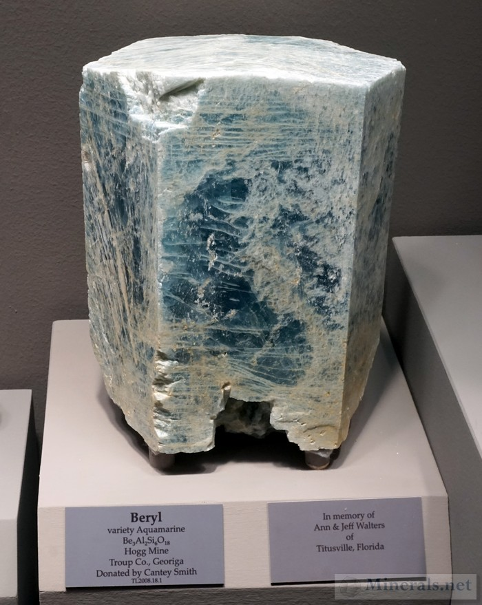 Beryl var Aquamarine from Hogg Mine, Troup Co., GA