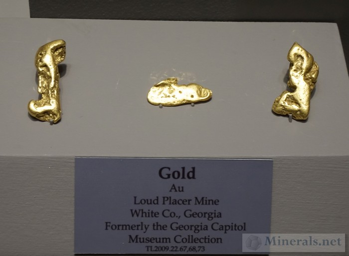 Gold Nuggets from the Loud Placer Mine, White Pine Co., GA