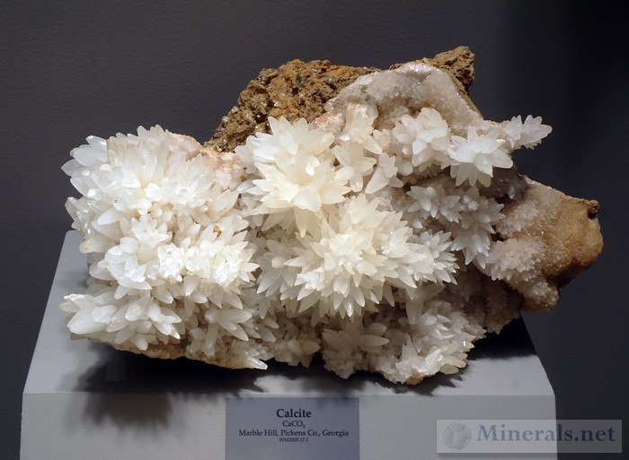 Calcite Crystals from Marble Hill, Pickens Co., GA