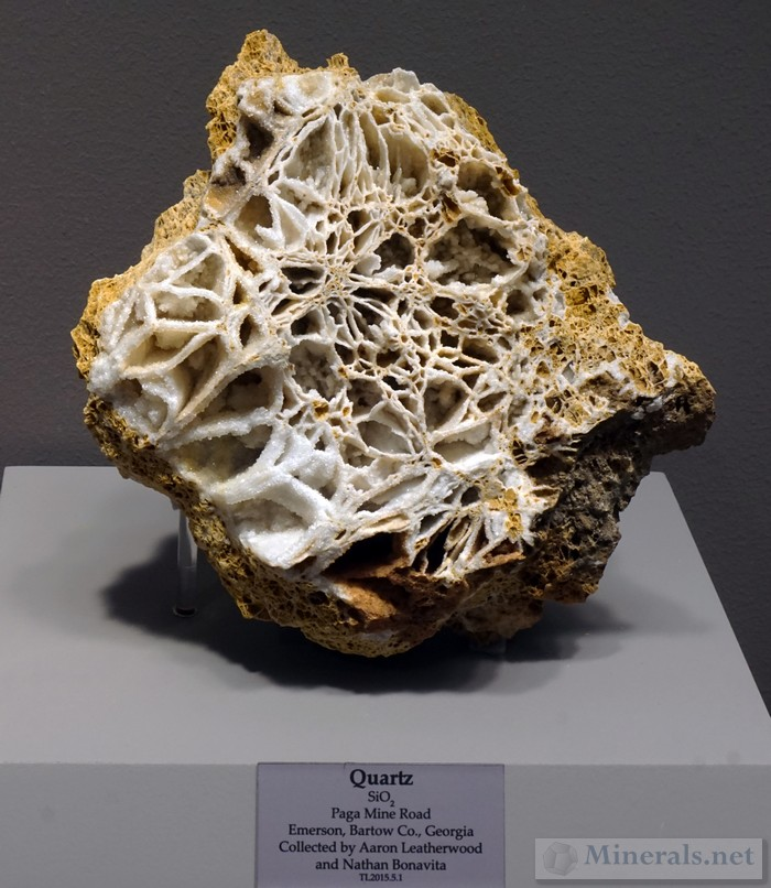 Quartz Box Lattice Formation from Paga Mine Road, Emerson Co., GA