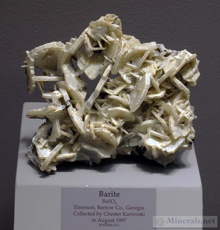 More Barite Crystal formations from Emerson, Bartow Co., GA
