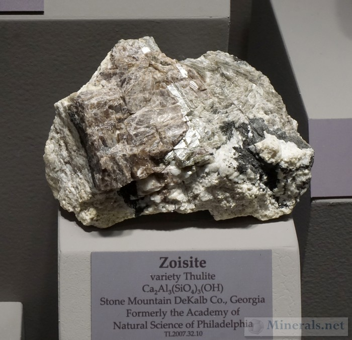 Zoisite var. Thulite from Stone Mountain, DeKalb Co., GA