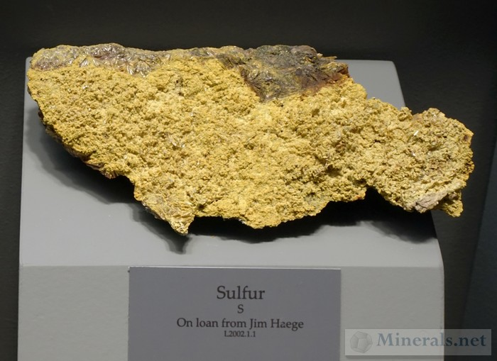 Sulfur. This Mineral is Rare at Graves Mountain.