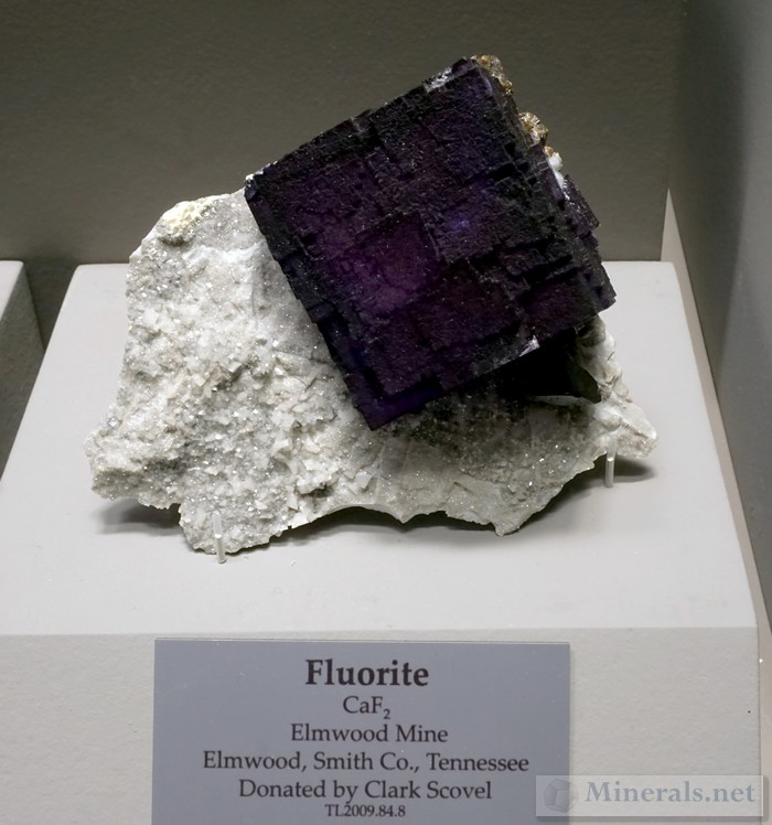 Fluorite Cube from the Elmwood Mine, Smith Co., Tennessee