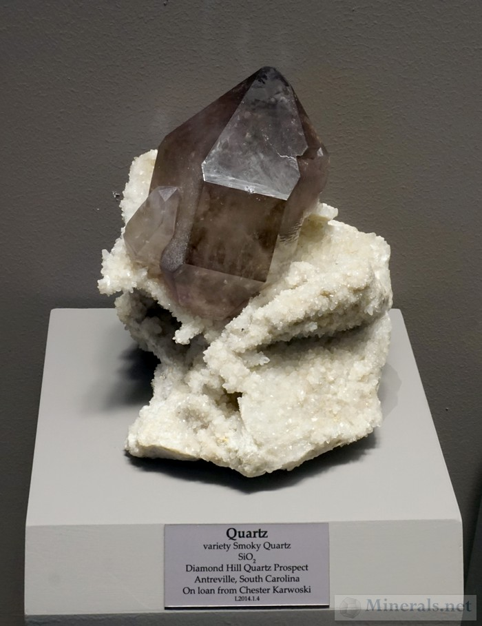 Smoky Quartz from Diamond Hill, Antreville, South Carolina