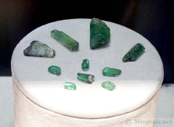 Single Hiddenite Crystals with Beautiful Green Color