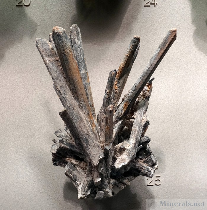 Stibiconite Pseudomorph after Stibnite from San Luis Potosi,