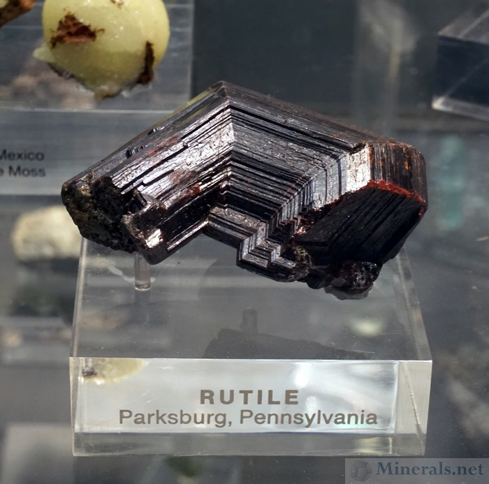 Rutile Twin from Parkersburg, Pennsylvania