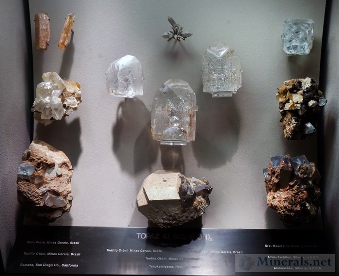 Display Case of Topaz
