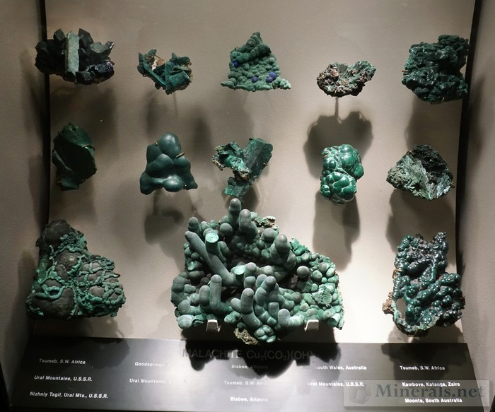 Display Case of Malachite