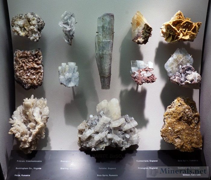 Display Case of Barite