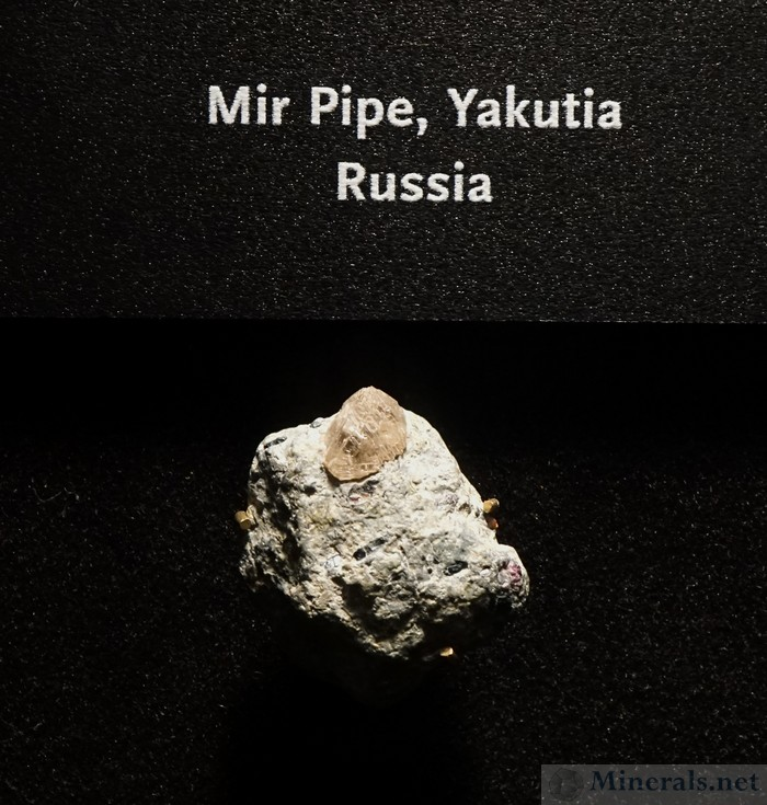 Diamond in Kimberlite Matrix from the Mir Pipe, Russia
