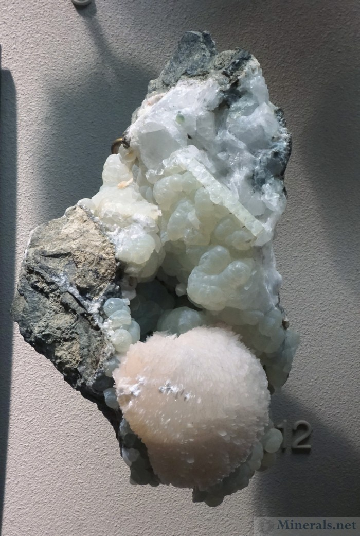 Thomsonite with Prehnite from Paterson, NJ
