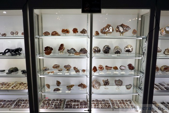 Very Large Agate Display Case in the Exhibit Area