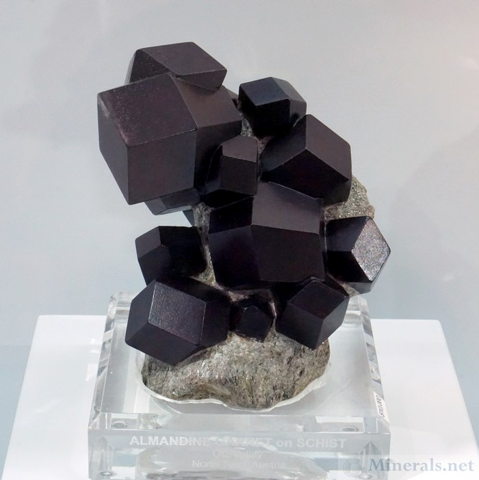 Exquisite Almandine Garnet Cluster from Otz Valley, N. Tyrol, Austria, the Arkenstone