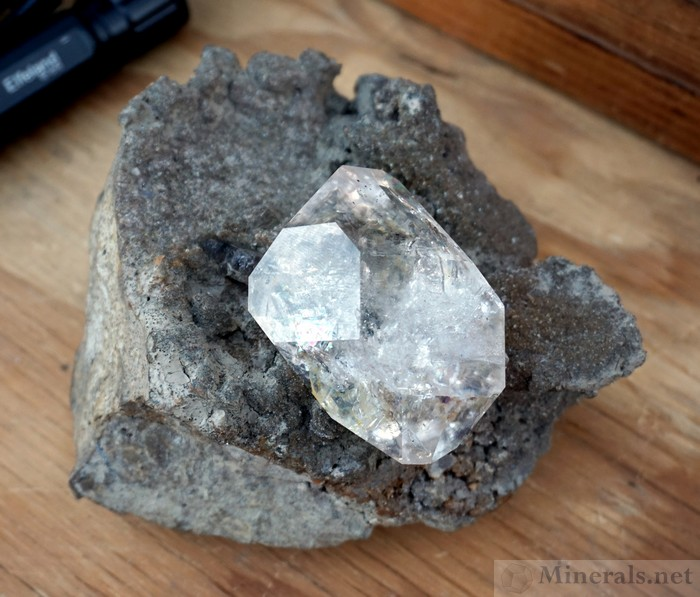 A Fantastic Herkimer Diamond on Matrix mined this Past Year by Dan Sebastian at the Ace of Diamonds Mine in Middleville, Herkimer Co., NY