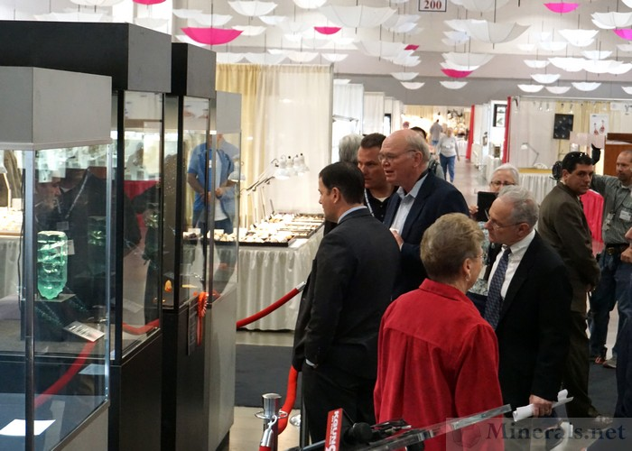 VIP's Looking at the Impressive Aquamarine Crystal Display
