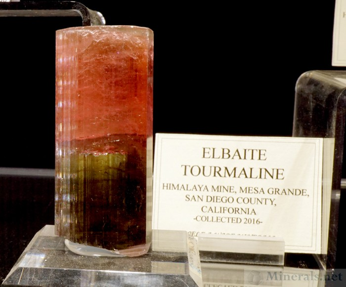 Elbaite Tourmaline Mined in 2016 at the Himalaya Mine, Mesa Grande, San Diego Co., CA, Self-a-Ware Minerals