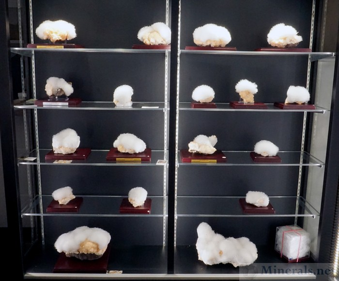 Display of Scolecite from Rankhamb Village, Sakur, India. April 2017 Find, Matrix India