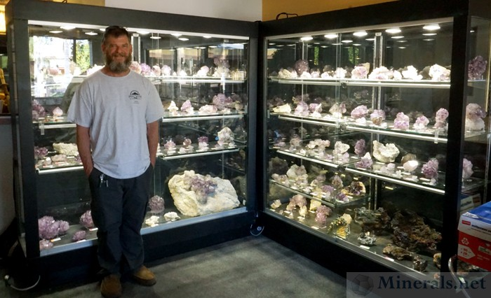 Mine Owner James Hall of the Reel Mine with his Amethyst