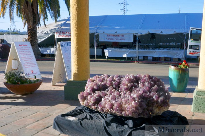 Very Large Amethyst Crystal Plate Near the Hotel Entrance