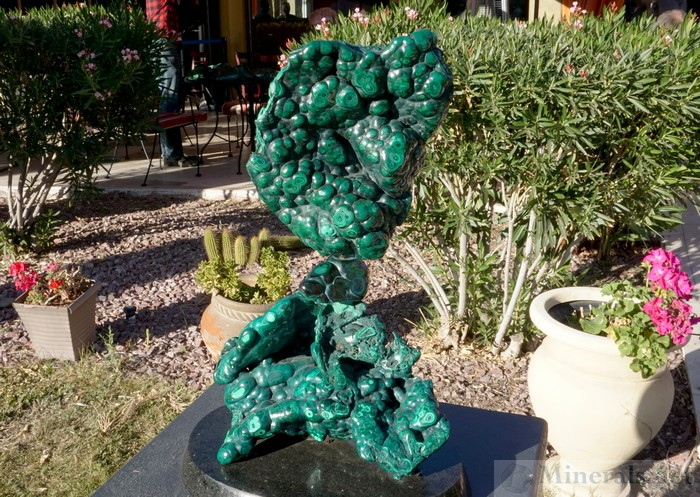 A Large Malachite Sculpture from Leo Atkinson