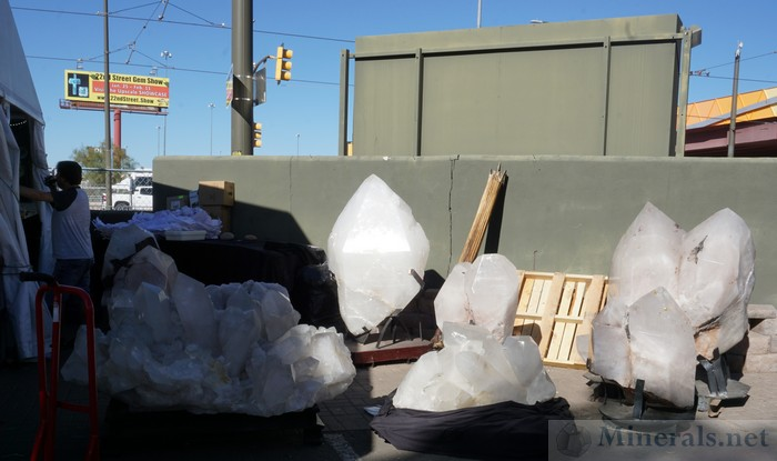 Very Large Quartz Crystals from Brazil at the Pueblo Show at Riverpark Inn