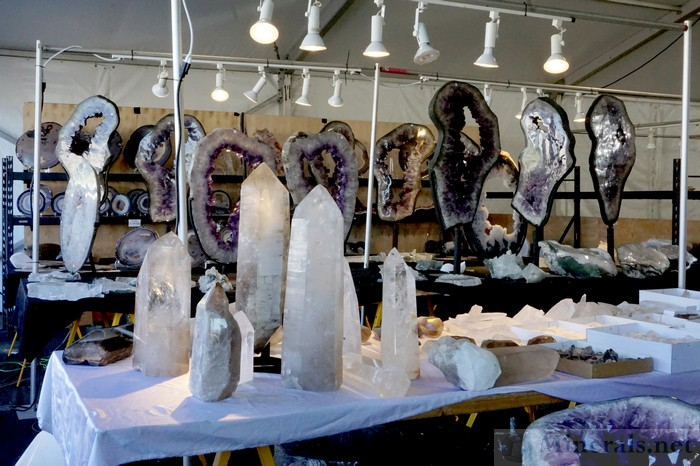 Large Quartz, Agate, And Amethyst