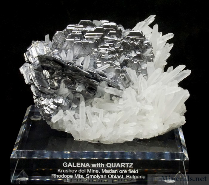 Galena with Quartz from the Kruschev Dol Mine, Madan, Bulgaria
