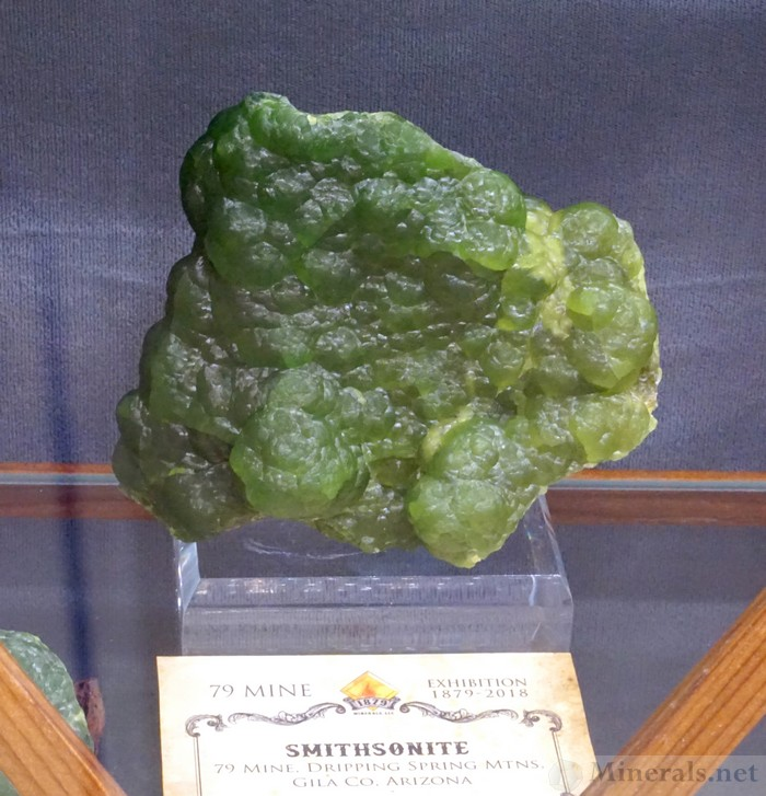 Green Smithsonite from the 79 Mine, Dripping Spring Mnts, AZ