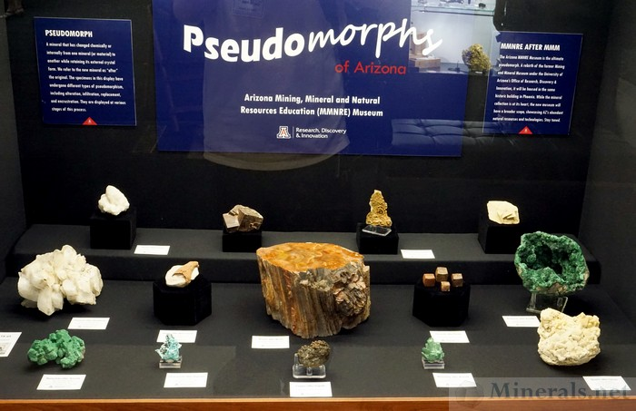 Pseudomorphs of Arizona Arizona Mining, Mineral, and Natural Resources Education Museum