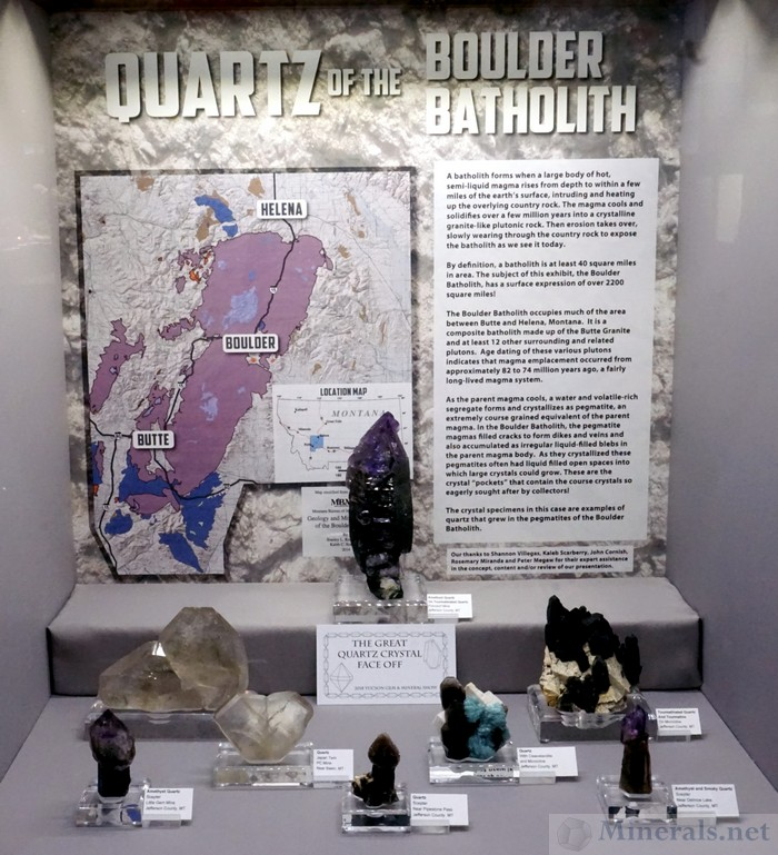 Quartz of the Boulder Batholith (A Great Quartz Crystal Face Off Case)