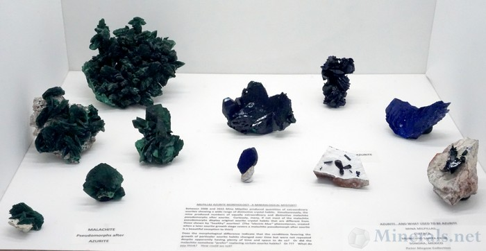 Azurite and what Used to be Azurite from the Millpillas Mine, Mexico, Peter Megaw Collection