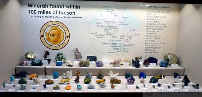 Minerals Found Within 100 Miles of Tucson<, META (Mineral Enthusiasts of the Tucson Area)