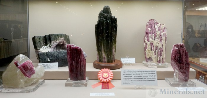 Cruzero Mine Tourmaline Giants, from St. Troy Consolidated Mines, Ltd.
