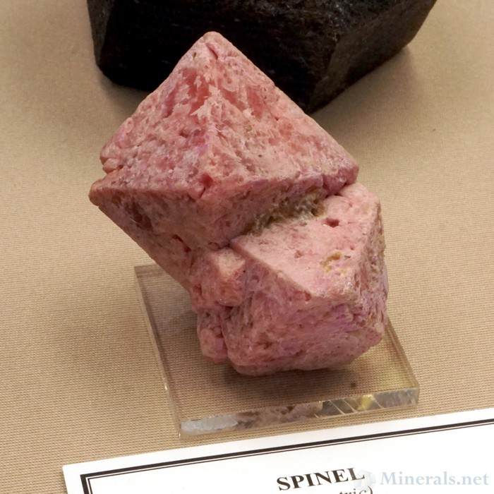 Pink Spinel Crystals from Mehenge, Morogoro Region, Tanzania, Smithsonian Institution National Museum of Natural History