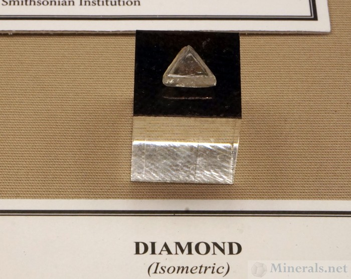 Triangular Diamond Macle Twin from the Ekati MIne, Lac De Gras, NW Territories, Canada, Smithsonian Institution National Museum of Natural History