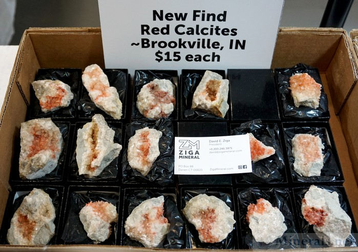 New Find of Red Calcite from Brookville, Indiana, Ziga Mineral