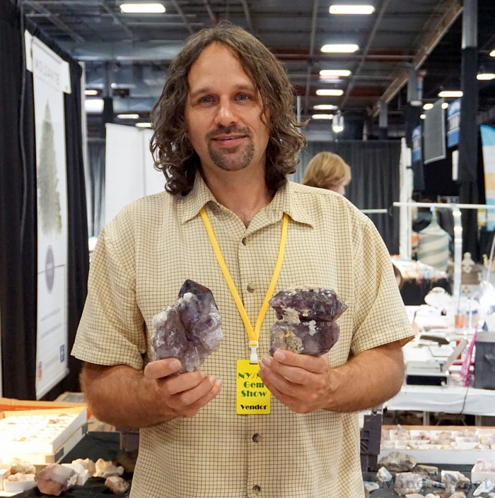 Bryan Major from Ultra-Rocks with his New Find of Amethyst from Union Co., SC, Ultra Rocks