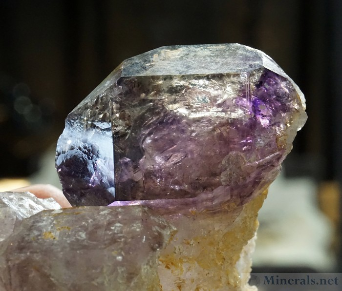 Large Gemmy Amethyst Crystal from a New Find in Union Co., South Carolina