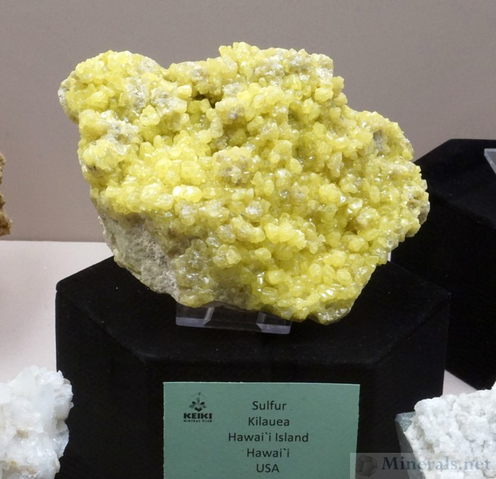 Sulfur from Kilaueu Volcano, Hawaii Island, Hawaii, Jon Bly Collection (Keiki Mineral Club)